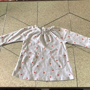 Polka dots dress for baby girl, Size: NB